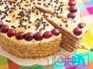 Рецепта Вкусна торта с маскарпоне, сметана, кондензирано мляко, ром и какаови блатове